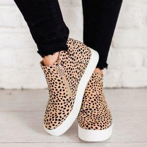Leopard print Wedge sneaker